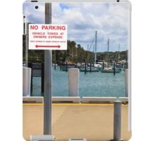 No Parking Sign beside a Harbour iPad Case/Skin