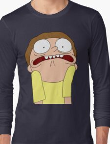 Morty Scared halloween  Long Sleeve T-Shirt