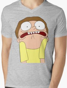 Morty Scared halloween  Mens V-Neck T-Shirt