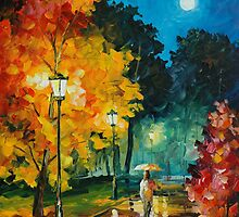 ROMANTIC NIGHT - LEONID AFREMOV by Leonid  Afremov