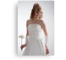 Beautiful bride in white dress 2. Canvas Print