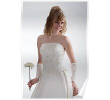 Beautiful bride in white dress 2. Poster