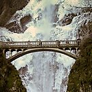 Frozen Multnomah Falls by Chrisdor