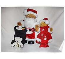 Santa and Mrs Christmas Poster