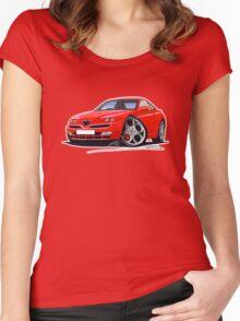 Alfa Romeo GTV Red Women's Fitted Scoop T-Shirt