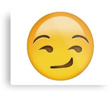 Smirking Emoji Metal Print