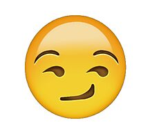 Smirking Emoji Photographic Print