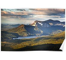 Table Rock Sunrise - Caesar's Head State Park Landscape Poster