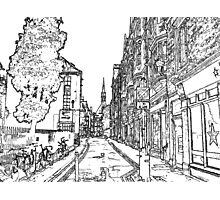 An Oxford Sketch  Photographic Print