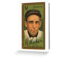 Benjamin K Edwards Collection Beals Becker New York Giants baseball card portrait Greeting Card