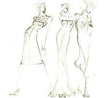 Fashion Sketch Female 8 Photographic Print