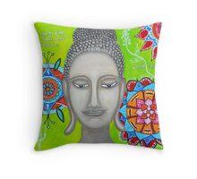 BUDDHA WITH MANDALAs Throw Pillow