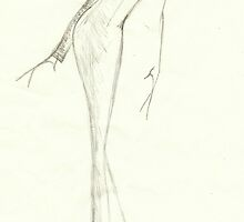 Fashion Sketch Female 11 by AnArtfulLife