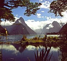 Mitre Peak in Milford Sound by Alex Cassels