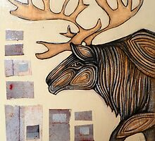 Animalia I: Woodland Caribou by Lynnette Shelley