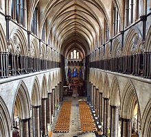 Inside Salisbury Cathedral by Clive