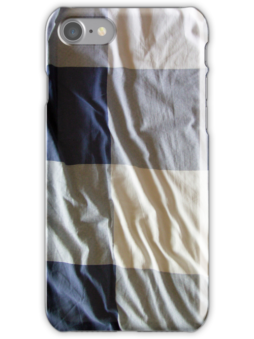 Blue and white check for iPhone by Philip Mitchell