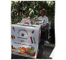 Old man - seller of ice cream Poster
