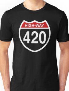 420 HIGHway Weed Blunt Medical Pot Marijuana Unisex T-Shirt