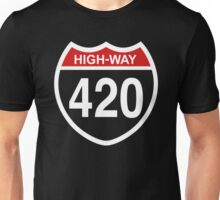 420 HIGHway Weed Blunt Medical Pot Marijuana Unisex T-Shirt