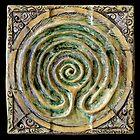 Spiral nine: toward center by Mona Shiber