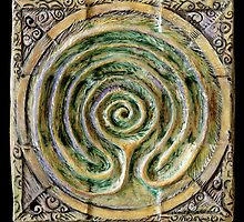 Spiral nine: toward center by Mona Shiber