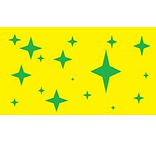 Green and Yellow Green and Yellow Stars Photographic Print