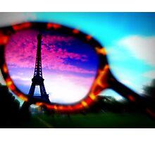 Eiffel Tower Through Sunglasses Photographic Print