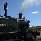 Steam Locomotive and Engineer by Scott Read