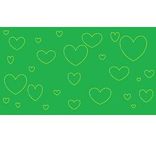 Green and Yellow Green and Yellow Hearts1 Photographic Print