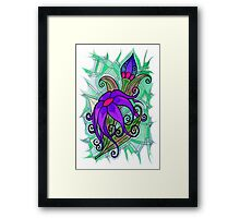 Corsage - Pink and Purple Framed Print