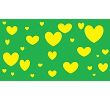 Green and Yellow Green and Yellow Hearts2 Photographic Print