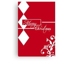 Red & White Christmas Card Canvas Print