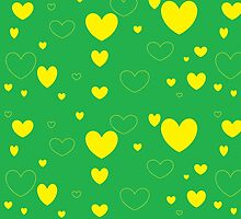 Green and Yellow Green and Yellow Hearts3 by sunshyn256