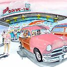 Mel's Diner - 1950 Ford - in the pink by Rob Beilby