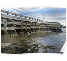 Cribstone Bridge - Harpswell, Maine Poster