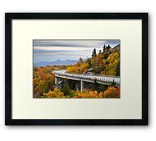 Linn Cove Viaduct - Blue Ridge Parkway Fall Foliage Framed Print