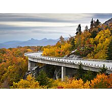 Linn Cove Viaduct - Blue Ridge Parkway Fall Foliage Photographic Print