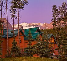 Canada. Banff National Park. Lodging. Twilight. by vadim19