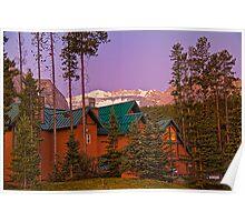 Canada. Banff National Park. Lodging. Twilight. Poster