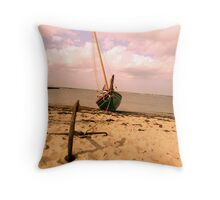 Anchored down Throw Pillow