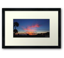 another sunrise from the prairie Framed Print
