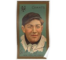 Benjamin K Edwards Collection Arthur L Raymond New York Giants baseball card portrait Poster