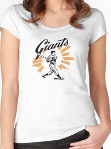 San Francisco Giants Schedule Art from 1958 Women's Fitted Scoop T-Shirt