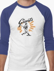 San Francisco Giants Schedule Art from 1958 Men's Baseball ¾ T-Shirt