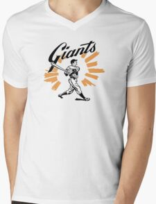 San Francisco Giants Schedule Art from 1958 Mens V-Neck T-Shirt