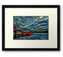 Waban Lake, Massachusetts  Framed Print