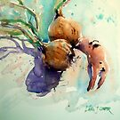 Onions and a crab claw by Lara  Cooper