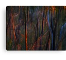 Abstract Ghost Trees at Sunset Canvas Print
