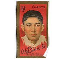 Benjamin K Edwards Collection Albert Bridwell New York Giants baseball card portrait Poster